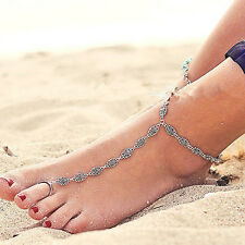 Vintage Flower Women Ankle Chain Anklet Bracelet Sandal Beach Foot Jewelry