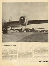 1945 WW2 Ad, BOEING B-29 Aircraft lined up for takeoff  great photo !  100314