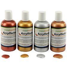 Acrylfarben Set mit 4 Flaschen je 150 ml silber, gold, bronze, kupfer 21,50€/1L