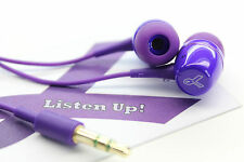 Fashionable Purple Earbuds, Real Audio For Low Price, Charitable Proceeds