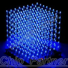 Farbe 8x8x8 3D LightSquared DIY Kit 3mm LED Cube White LED Blue Ray Brand