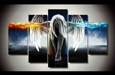 """( 5 PANEL ) ABSTRACT COLOURFUL ANGEL V DEMONS WINGS 30"""" x 60"""" Total size HUGE"""