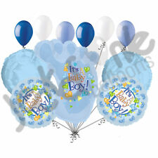 11 pc Its a Baby Boy Foot Balloon Bouquet Decoration Welcome Home Shower Footsie