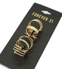 R248 Forever 21 Brides Wedding Wedding Accessories Multi Set Rings Gold Ring US