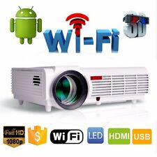 5000LM Android WIFI LED Smart Projector Home Cinema Theater Game USB HDMI VGA TV