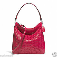 Coach Bag F29167 Coach Gathered Convertible Hobo Raspberry Agsbeagle