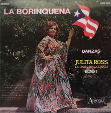 Julita Ross La Boriquena La Dama De La Danza CD ANSONIA 1973 Puerto Rico MINT