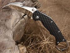 New TwoSun Mirror 420J2 Hook Cut Blade Karambit Folding Claw Knife TS-MB-02