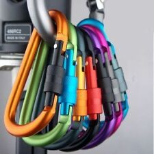 Aluminum Carabiner Clip Hook Climbing Keychain Locking Outdoor Sports