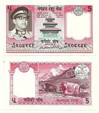 NEPAL 5 RUPEES 1974 AUNC P 23