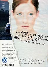Publicité Advertising 1997  VOLKSWAGEN  GOLF MATCH II  shi sankyo  VW  ...