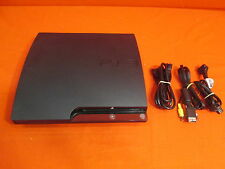 PlayStation 3 Slim 120GB Black Video Game System Very Good 7459