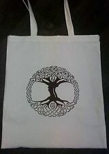Tree Of Life Spiritual Natural Eco Friendly Vinyl Tote 100% Cotton Shopping Bag