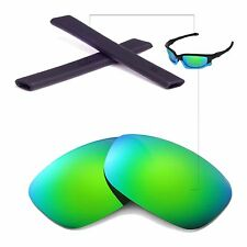 WL Polarized Emeraldine Lenses And Black Rubber Kit For Oakley Split Jacket