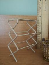 WONDERFUL CLOTHES DRYING RACK - METAL - DOLL HOUSE MINIATURE