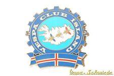 """Metall-Plakette """"Vespa Club Island"""" - Limitiert auf 100 Stück weltweit! Iceland"""