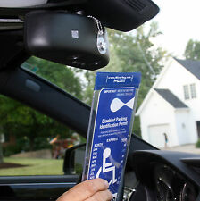 Mirortag Charm- Handicap Tag Holder & Protector. Magnetically Attach & Detach