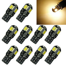 10x Canbus T10 194 W5W 5730 8 LED SMD Warm White Car Side Wedge Light Bulb New