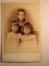 Riga - 1886 - 3 kleine Kinder - Junge - Mädchen - Portrait / KAB