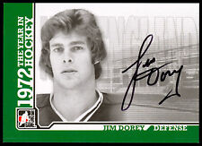 09 ITG 1972 THE YEAR IN HOCKEY WHA AUTO AUTOGRAPH JIM DOREY WHALERS NEW ENGLAND