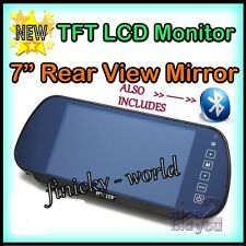 "7"" CAR LCD TFT USB MP3 MP4 MP5 PLAYER BLUETOOTH REAR VIEW MIRROR MONITOR TOUCH"