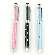 3PCS Capacitive 2in1 ballpoint Stylus Screen Touch Pen for iPhone iPod Tablet