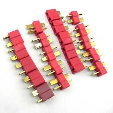 10 Pairs Deans Plug T Style Male /Female Connector For RC LiPo Battery ESC F