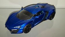1/24 JADA LYKAN HYPERSPORT SUPERCAR ONE LIKE IN FAST & FURIOUS CANDY BLUE BLACK