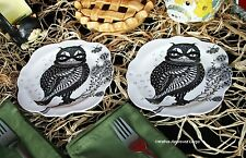 ANTHROPOLOGIE MASQUERADE CANAPÉ OWL PLATES (2) -NIB- UNMASK REAL PARTY STYLE!