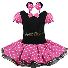 Minnie Mouse Party Costume Birthday Ballet Tutu Dress Up Headband For Child Girl
