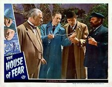 BASIL RATHBONE SHERLOCK HOLMES AND THE HOUSE OF FEAR , LOBBY CARD PHOTO 3  8X10
