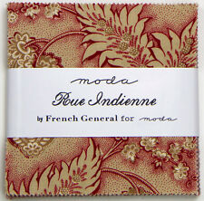 "RUE INDIENNE~MODA FABRIC~42-5"" SQUARES~CHARM PACK~FRENCH GENERAL~13680PP"