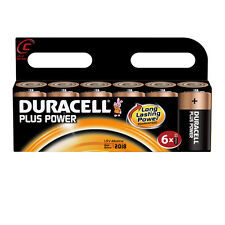6 Pack of Duracell PLUS POWER C Cell LR14 MN1400 MX1400 Alkaline Batteries