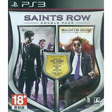PS3 Games Saints Row Double Pack [2 In 1] Brand New & Sealed