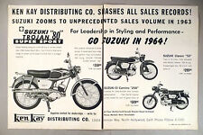 Suzuki Motorcycle 2-Page PRINT AD - 1963 ~~ Super Sport, Classic 50, El Camino