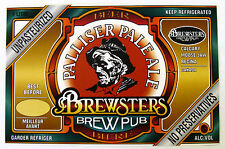 Brewsters BrewPub PALLISER PALE ALE beer label CANADA 1 Litre