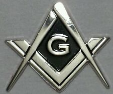 Masonic cut-out car emblem in silver