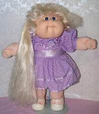 """1988 CABBAGE PATCH grow hair 16"""" doll #8 glasses face all orig & WORKS - coleco"""