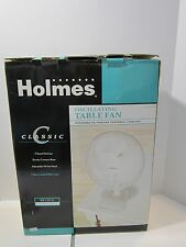New In Box Holmes Oscillating Table Fan White