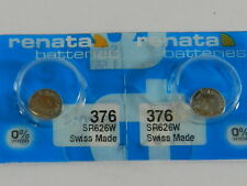 Renata 376 SR626W Watch Electronic Batteries Button Cell ,2 Pc