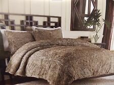 LUXURY COLLECTION FAUX FUR CHOCOLATE 3 PIECE FULL QUEEN  DUVET COVER SET~NEW