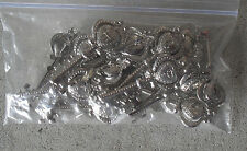 Lot of Metal Heart Key Shaped Letter Monogram Pins LOOK