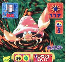 POKEMON STICKER Carte JAPANESE 50X50 1997 NORM@L N° 250 PARASECT
