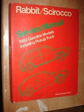 1980 VW RABBIT SCIROCCO SERVICE MANUAL SHOP BOOK ORIGINAL VOLKSWAGEN