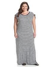NWT MICHAEL KORS PLUS Size 2X Striped Maxi Dress MSRP:$110