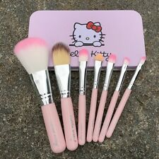 Pink Portable Hello Kitty Cosmetic Makeup Brush 7 Pcs Set Kit Box Pouch Bag Case