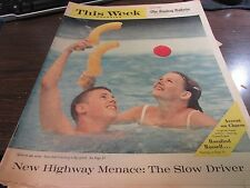 THIS WEEK MAGAZINE THE SUNDAY BULLETIN - 7/10/60 HIGHWAY MENACE THE SLOW DRIVER