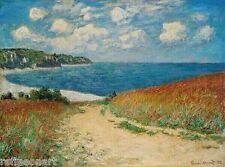 Claude Monet Path Through the Corn at Pourville .Handmade Oil Painting repro
