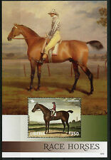 Liberia 2014 MNH Race Horses 1v S/S II Horse Racing Goldfinder Art Stamps