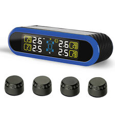 TPMS Wireless Tyre Tire Pressure Monitor System SOLAR Power & 4 External Sensors